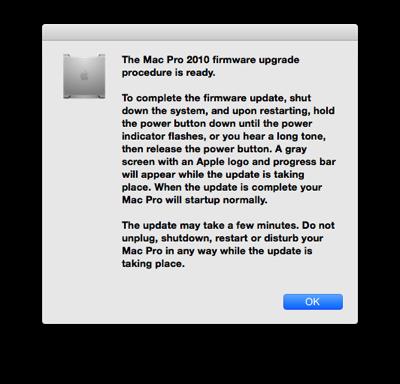 mac pro 2010 ファームウェア